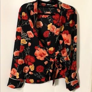 Floral wrap blouse (Forever 21)